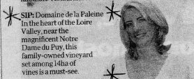 """From an article entitled, """"The Insiders Loire Valley""""."""