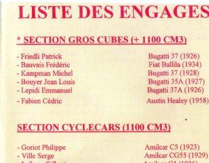 The first Le Grand Prix Retro , 1997