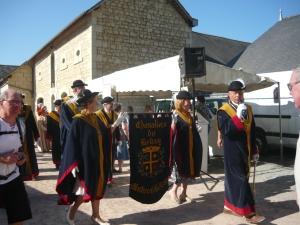 Les Chevaliers du Bellay at a festival in Le Puy Notre Dame