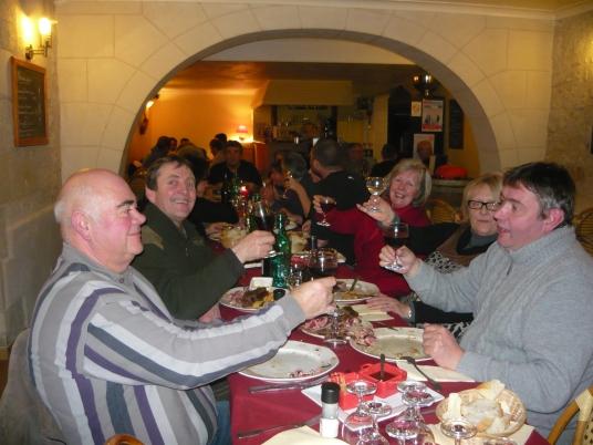 Beaujolais Nouveau night in Le Puy Notre Dame
