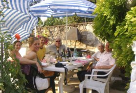 Lea and Andy at Le Clos des Guyons