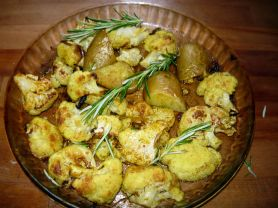 Roasted Cauliflower with curry and cumin
