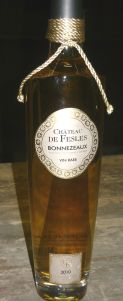 A presentation bottle of the 2010 Chateau Fesles Bonnezeaux