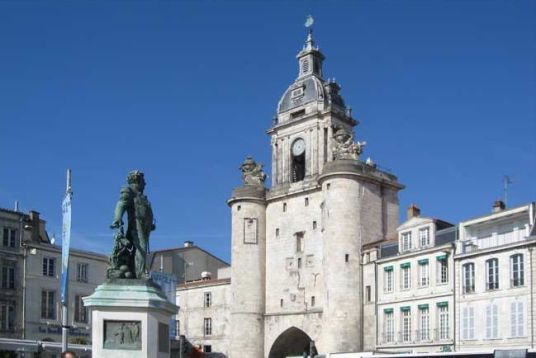 The horologe (clock tower) in the Old Port at La Rochelle.